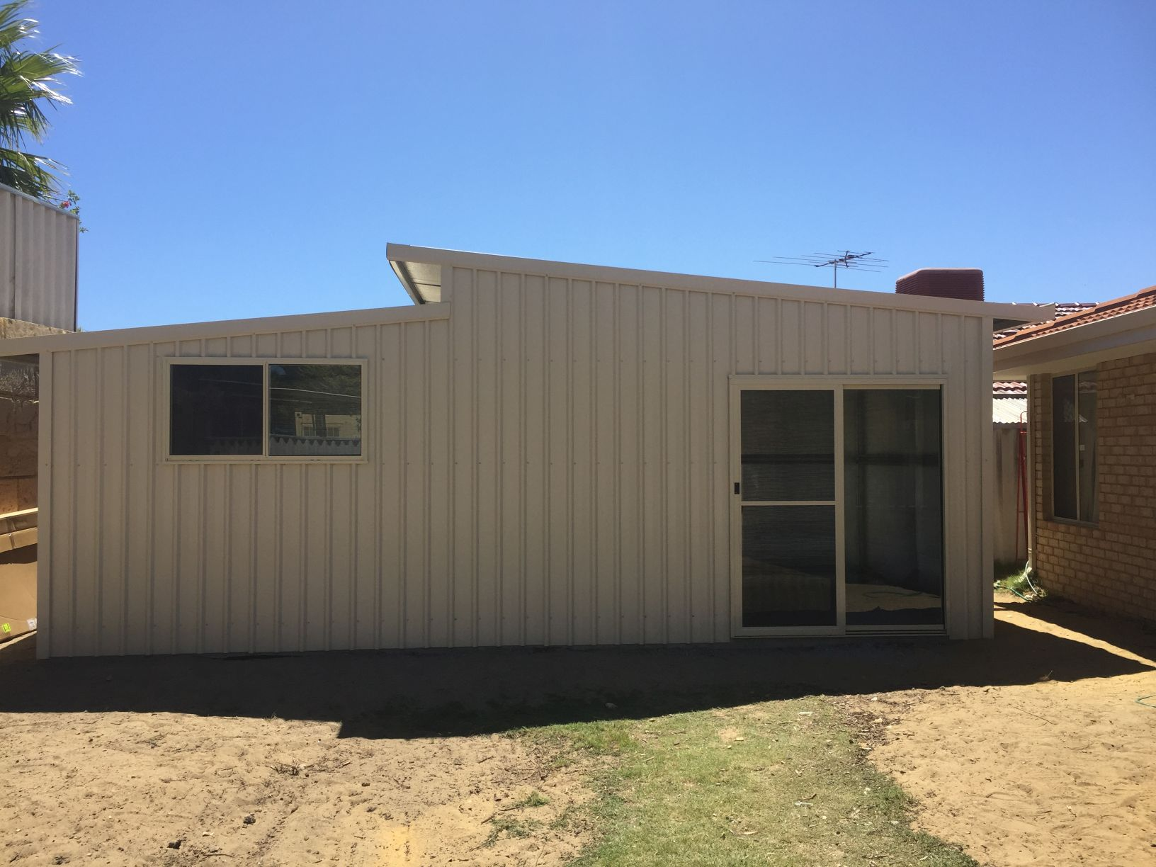 Double Skillion With Glass Sliding Door Amp Window Shed Rite
